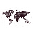 World map in grunge style vector image