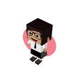 business woman cartoon character vector image