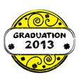 graduation 2013 vector image vector image