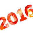 2016 with aquarelle effect Happy new year vector image