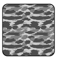 Camouflage button vector image