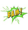 Bam flash on white vector image