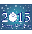 blue new year 2015 vector image