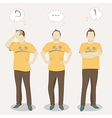Men positions vector image