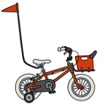 Red small child bike vector image