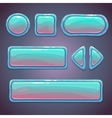 Set of bright blue glossy buttons vector image