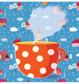 tea cup drawing vector image vector image