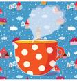 tea cup drawing vector image