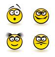 Cartoon faces vector image vector image