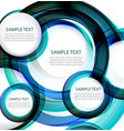 Blue abstract swirl banner vector image