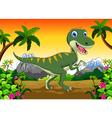 Cute dinosaur cartoon for your design vector image vector image