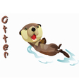 animal Otter vector image