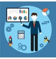 business concept man vector image