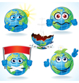 Cartoon Earth Icons vector image