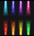 colorful beam lights vector image
