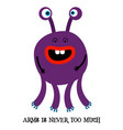 cute monster print for t-shirt vector image