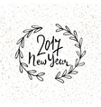 Happy New Year 2017 modern lettering design New vector image