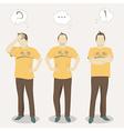Men positions vector image