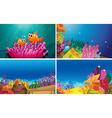 Underwater scenes vector image