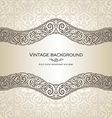 Vintage style cream invitation card vector image