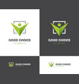 Green check box and abstract human icon vector image