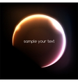 Blue light effects on round placeholder for your vector image