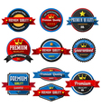 PREMIUM QUALITY retro vintage badges and labels Fl vector image