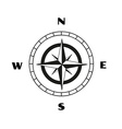 compass sketch vector image