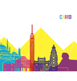 Cairo skyline pop vector image