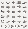lots of black line arrows vector image