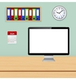 Modern office interior with designer workplace vector image