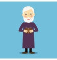 Evangelist old man with book vector image vector image