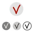 Check mark button icons vector image