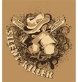 vintage tshirt design vector image