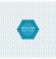 abstract geometric blue gray hexagon pattern vector image