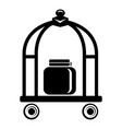 baggage trolley icon simple black style vector image