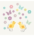Beautiful baby vintage greeting card vector image
