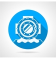 Diving helmet round icon vector image