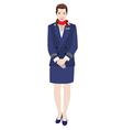 Flight attendant vector image