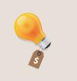 idea has a price tag dollar symbol of money label vector image
