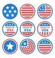 Made in USA Labels Set vector image