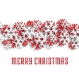 Merry Christmas snowflakes greeting card vector image