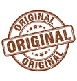original brown grunge round vintage rubber stamp vector image
