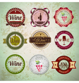 Set of wine vintage labels vector image