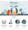 Skin Care One Flat Page vector image