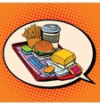 dream of delicious fast food vector image