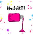 nail polish spill hand drawn poster vector image