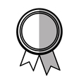 rosette corporate win banner shadow vector image