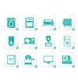 stylized home electronics and equipment icons vector image