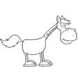 Sleepy horse cartoon vector image vector image